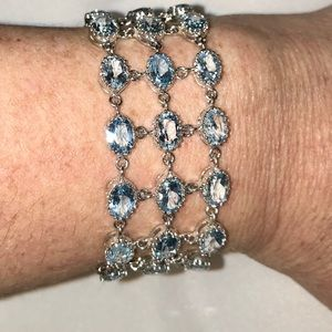 Jewelry - 27.90 CTW OF AWESOME BLUE TOPAZ BRACELET